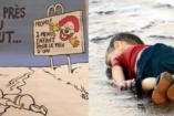 Je suis Charlie??? - a Charlie Hebdo a halott szír kisfiún viccelődik