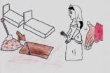 Szíriai menekült lányok rajzai a kényszerházasságról