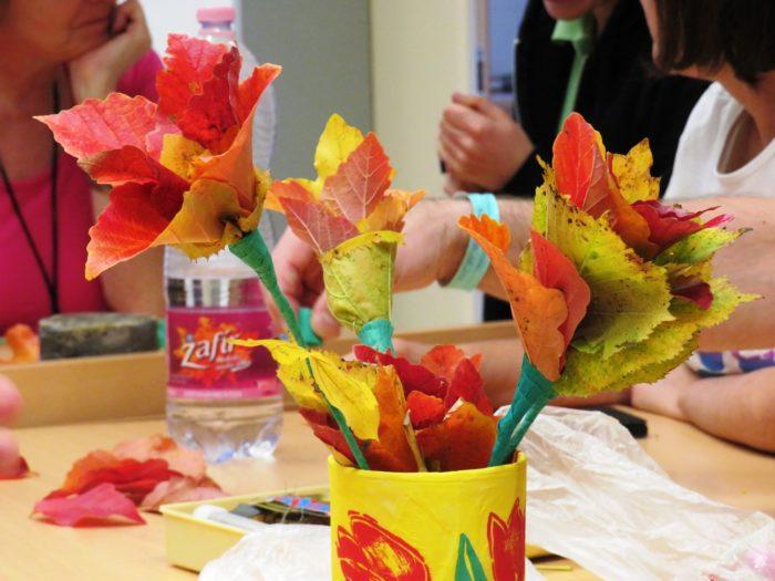 Őszi kreatív – Falevélrózsa