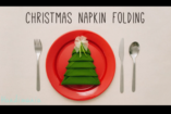 Hogyan hajtogassunk karácsonyfa formájú asztalkendőt?