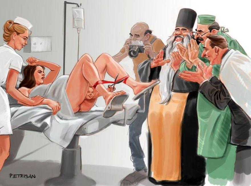Sokkoló karikatúra a mai világról