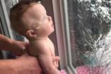 Az orvosok azt mondták  a szülőknek, vetessék el a babát. Clara most öt hónapos és csodás fotók készültek róla, amint a hóesést nézi!