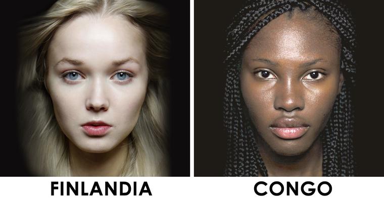 Női szépségtípusok a világ körül: Natalia Ivanova projektje