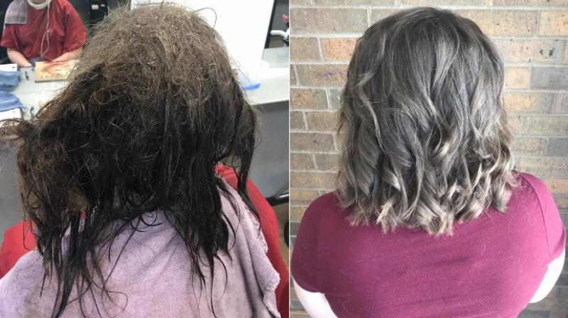Így változtatta meg a fodrász a depressziós lány haját - és talán életét is!