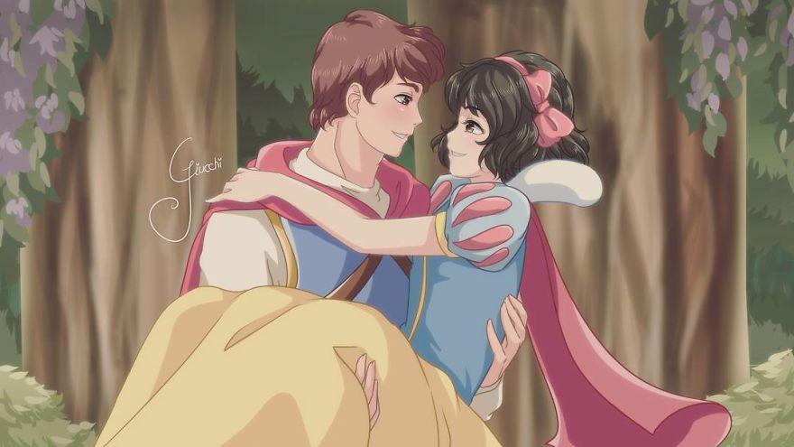 Disney-hercegnők anime-stílusban