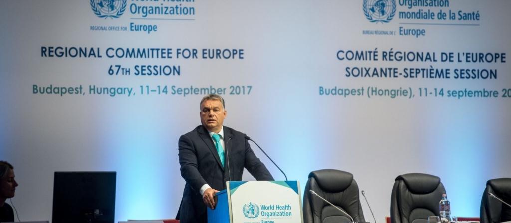 Részletek Orbán Viktor beszédéből a WHO regionális bizottsági ülésén