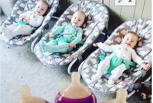 Így reggeliznek a hármasikrek! (VIDEÓ)