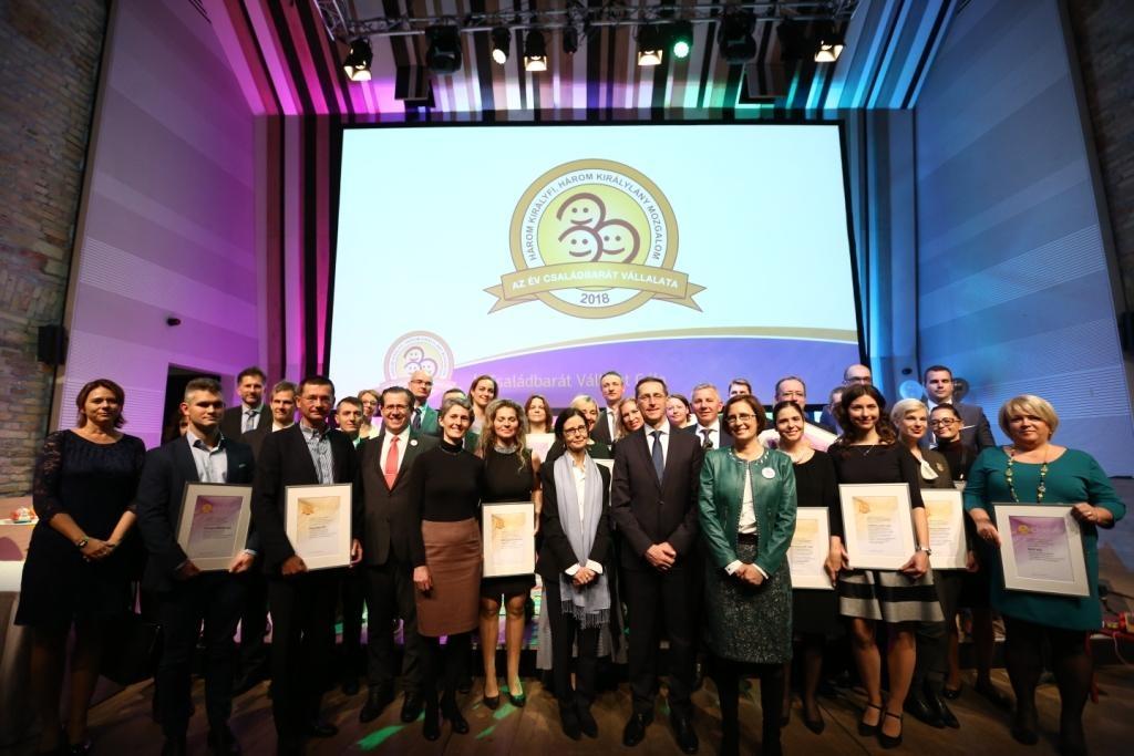 Idén is átadták Az Év Családbarát Vállalata-díjakat, mutatjuk, kik nyertek!
