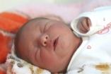 Fotó az ország első babájáról