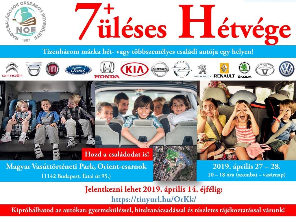 Gyere el és próbáld ki a családdal együtt! 7+üléses hétvége a Vasúttörténeti Parkban